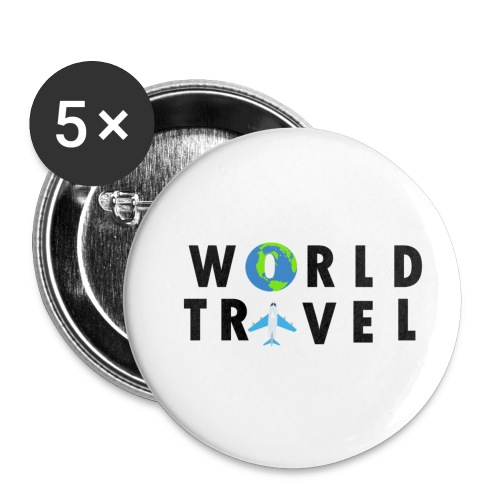 World Travel Design - Buttons small 1'' (5-pack)