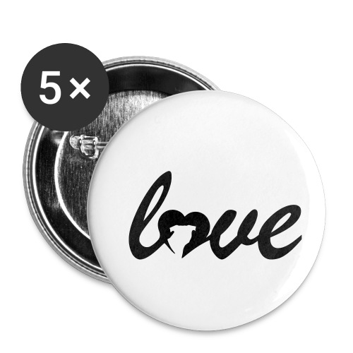 Dog Love - Buttons small 1'' (5-pack)