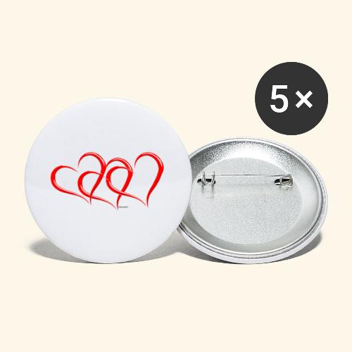 3hrts - Buttons small 1'' (5-pack)