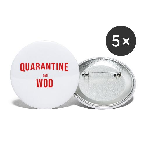 QUARANTINE & WOD - Buttons small 1'' (5-pack)