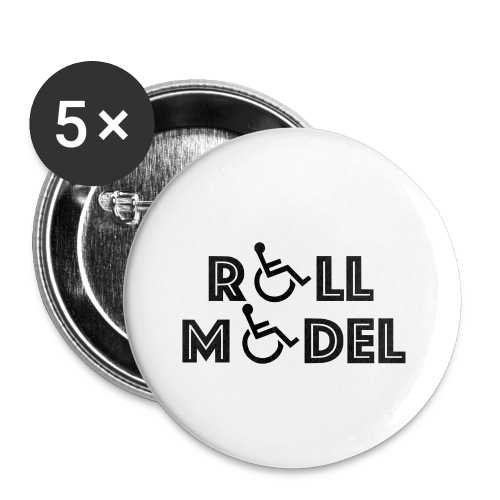 Every wheelchair users is a Roll Model - Buttons small 1'' (5-pack)