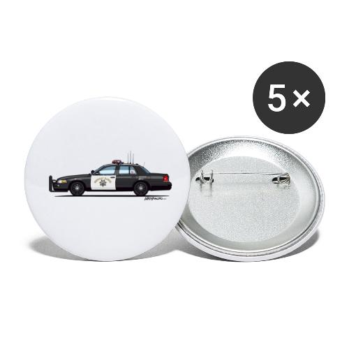 California Highway Patrol CHP Crown Vic (with - Buttons small 1'' (5-pack)