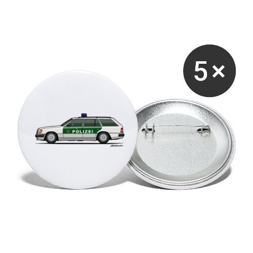 MB W124 T124 300TE German Police Autobahn - Buttons small 1'' (5-pack)