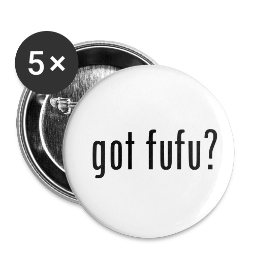 gotfufu-black - Buttons small 1'' (5-pack)