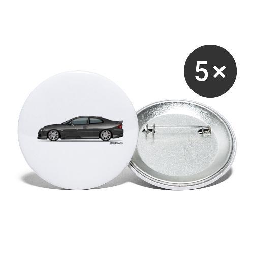 Holden Monaro HSV GTO (V2) Black - Buttons small 1'' (5-pack)