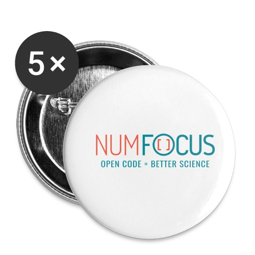 NumFOCUS Official Logo - Buttons small 1'' (5-pack)
