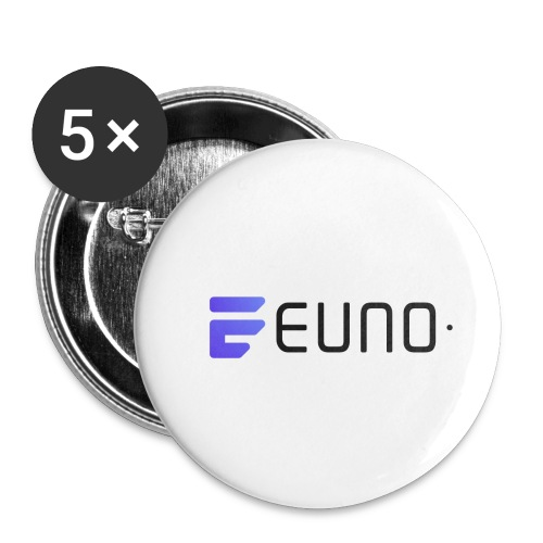 EUNO LOGO LANDSCAPE BLACK FONT - Buttons small 1'' (5-pack)