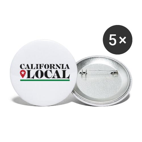 California Local Dark on Light - Buttons small 1'' (5-pack)