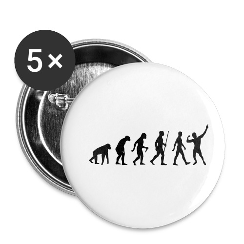 Evolution of Zyzz - Buttons small 1'' (5-pack)