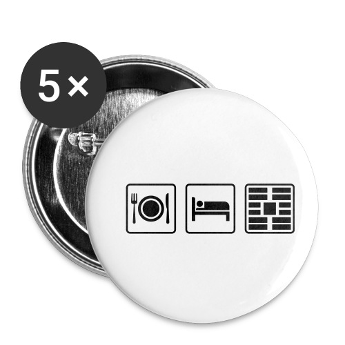 Eat Sleep Urb big fork - Buttons small 1'' (5-pack)