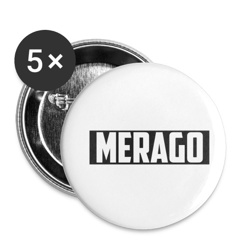 Transparent_Merago_Text - Buttons small 1'' (5-pack)
