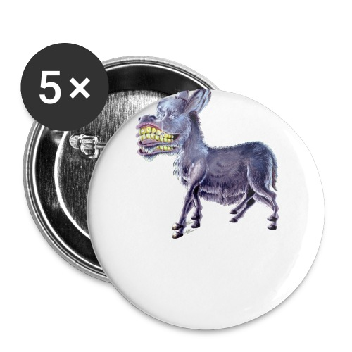 Funny Keep Smiling Donkey - Buttons small 1'' (5-pack)