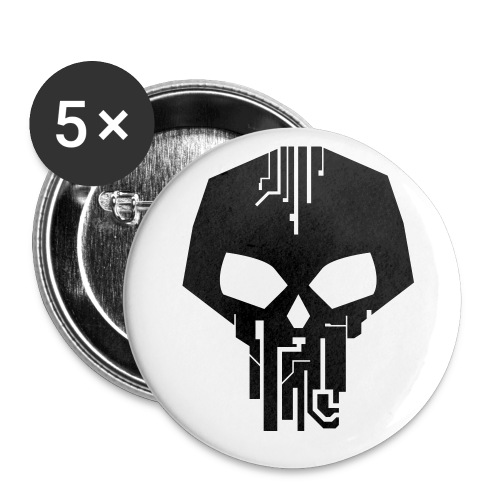 Black Logo Vector - Buttons small 1'' (5-pack)