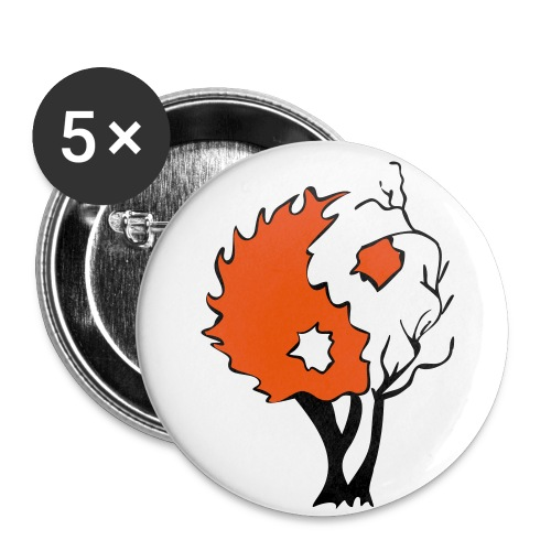 in tree col - Buttons small 1'' (5-pack)