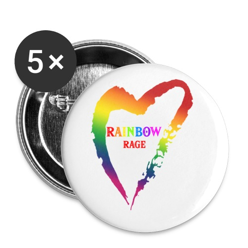 Rainbow Rage - Small Buttons