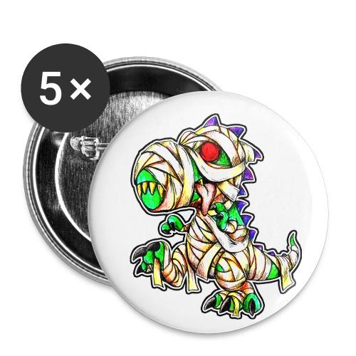 Halloween Mummy Trex - Buttons small 1'' (5-pack)