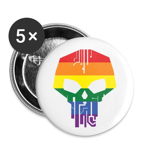 Black Ice Pride Logo - Buttons small 1'' (5-pack)
