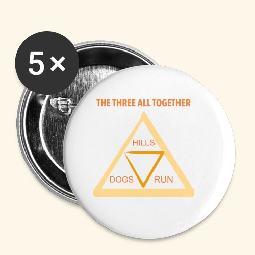 Run4Dogs Triangle - Buttons small 1'' (5-pack)