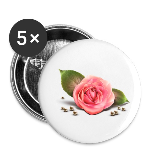 Pink Rose - Small Buttons