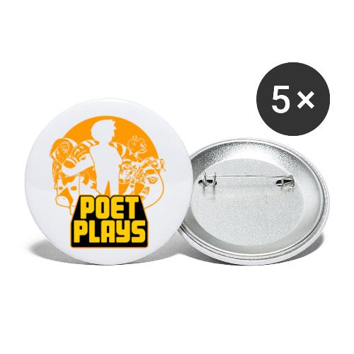 Poet Plays RETRO - Buttons small 1'' (5-pack)