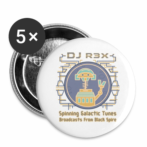 Galactic Tunes - DJ R3X - Buttons small 1'' (5-pack)