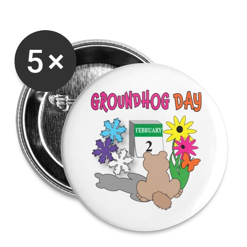 Groundhog Day Dilemma - Buttons small 1'' (5-pack)
