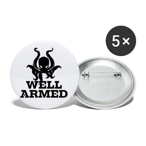 Well Armed Octopus - Buttons small 1'' (5-pack)
