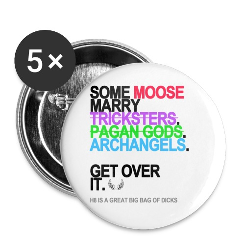 some moose marry gods lg transparent - Buttons small 1'' (5-pack)
