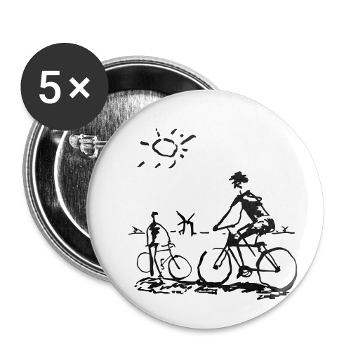 Bicycle Bicycling Picasso - Buttons small 1'' (5-pack)