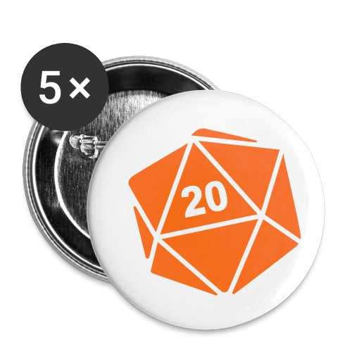 D20 Winter Toque - Buttons small 1'' (5-pack)