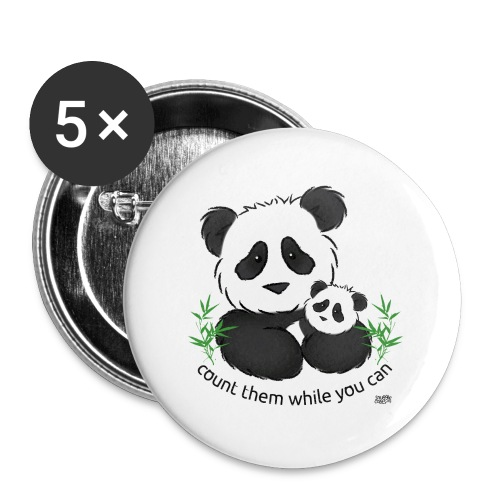 SnuggleCoats_panda - Buttons small 1'' (5-pack)