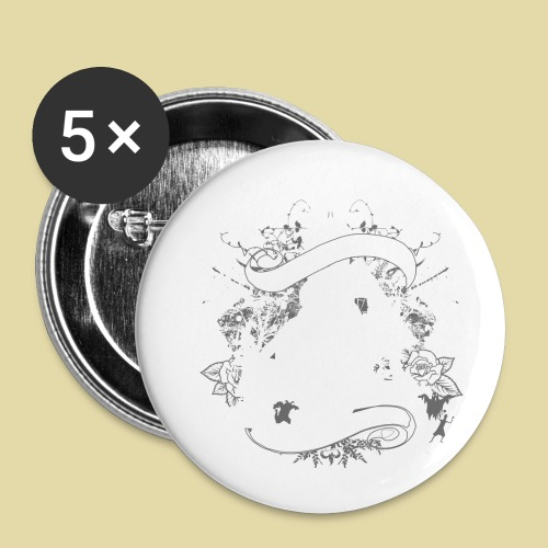 hoh_tshirt_skullhouse - Buttons small 1'' (5-pack)