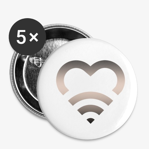 I Heart Wifi IPhone Case - Buttons small 1'' (5-pack)
