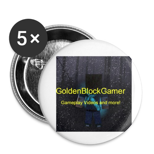 GoldenBlockGamer Tshirt - Buttons small 1'' (5-pack)
