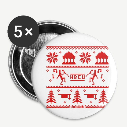 HBCU Ugly Christmas Sweat - Buttons small 1'' (5-pack)