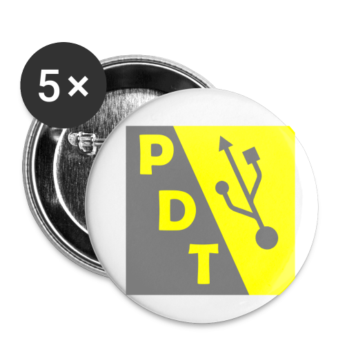 PDT Logo - Buttons small 1'' (5-pack)