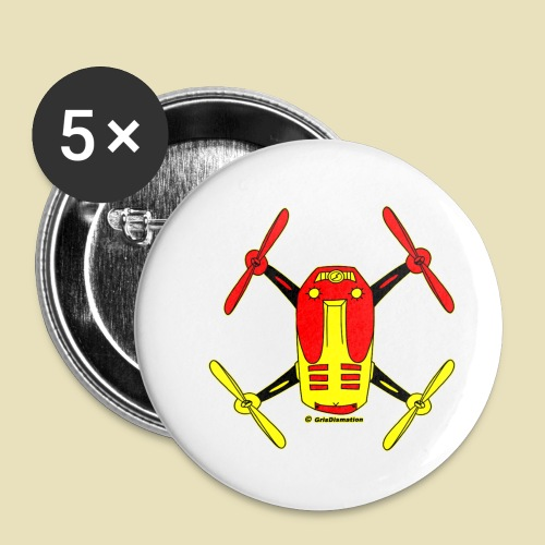 GrisDismation Ongher Droning Out Tshirt - Buttons small 1'' (5-pack)