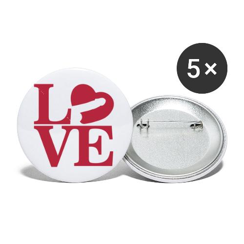 Love Cock - Buttons small 1'' (5-pack)