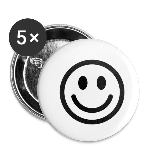 smile dude t-shirt kids 4-6 - Buttons small 1'' (5-pack)