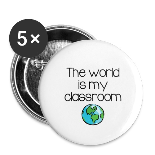 World Classroom - Buttons small 1'' (5-pack)