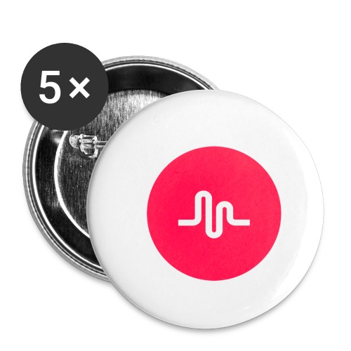 Musical.ly logo - Buttons small 1'' (5-pack)