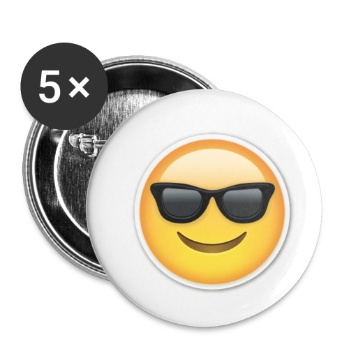 sunglasses emojicon mug & phone case - Buttons small 1'' (5-pack)