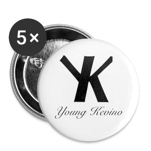 Young Kevino Official Logo (Black) - Small Buttons