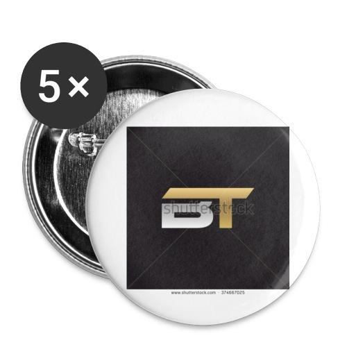 BT logo golden - Buttons small 1'' (5-pack)