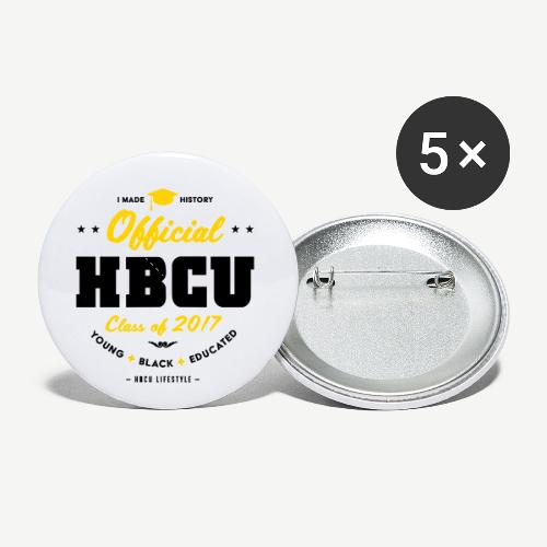 Official HBCU Class of 2017 Grad - Buttons small 1'' (5-pack)