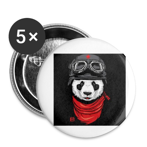 Panda - Buttons small 1'' (5-pack)