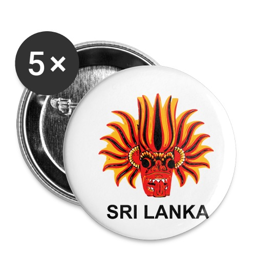 Sri Lanka Mask - Buttons small 1'' (5-pack)