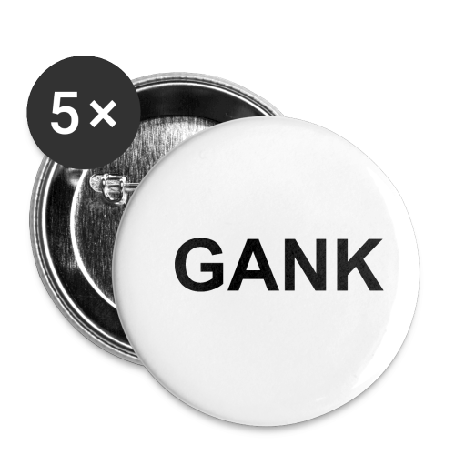 GANKblack - Buttons small 1'' (5-pack)