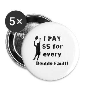 Tennis Double Fault - Small Buttons