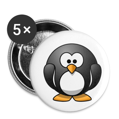 Funny Penguin T-Shirt - Buttons small 1'' (5-pack)